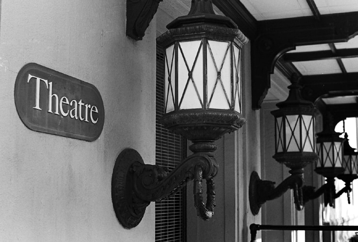 Black and White theatre sign